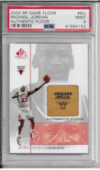 Michael Jordan (chicago Bulls) 2000 Sp Game (authentic) Floor Mj Psa 9