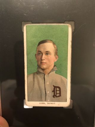 1909 - 11 T206 Ty Cobb Green Portrait Piedmont SGC Good 2 Eye Appeal Undergraded? 2