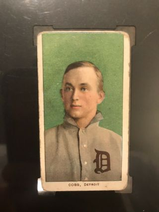 1909 - 11 T206 Ty Cobb Green Portrait Piedmont SGC Good 2 Eye Appeal Undergraded? 4