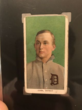 1909 - 11 T206 Ty Cobb Green Portrait Piedmont SGC Good 2 Eye Appeal Undergraded? 5