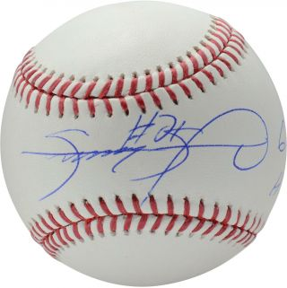 "Sammy Sosa Chicago Cubs Autographed Baseball With "" 609 Hr "" Inscription"