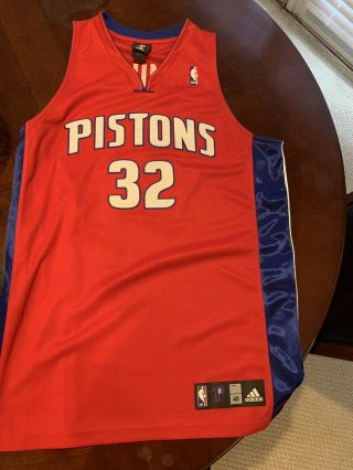 Adidas Authentics Nba Detroit Pistons Richard Rip Hamilton 32 Jersey Sz 48