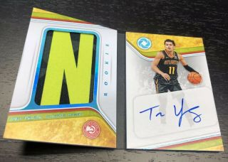 4/5 Trae Young 2018 - 19 Opulence Autograph Rookie Patch Auto Letter Tags Book Rpa