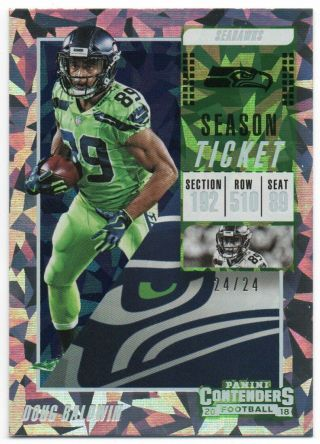 2018 Panini Contenders Cracked Ice 11 Doug Baldwin 24/24 Seattle Seahawks