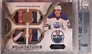 2015 - 16 Ud The Cup Connor Mcdavid Rookie Foundations Patch 03/10 3 Clr