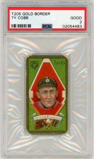 Psa 2 Good T205 Ty Cobb Gold Border,  Close To 50/50