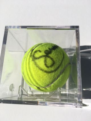 Venus And Serena Williams Autographed Signed Tennis Ball With & Case