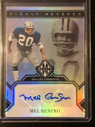 2019 Majestic Highly Revered Dallas Cowboys Mel Renfro Autograph 4/10