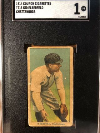 1914 T213 Coupon Type 2 Kid Elberfeld,  Chattanooga - Sgc Psa 1 - Very Low Pop