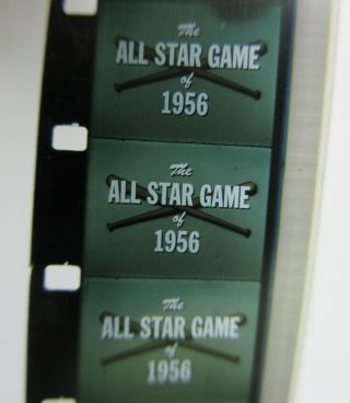 1956 Mlb All Star Game On 16mm Color Sound Movie Film / Baseball Motion Pictures