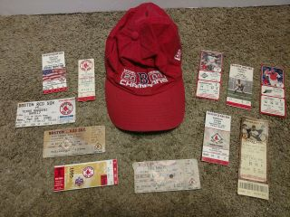 Large 36 Items Boston Red Sox Assorted Memorabilia