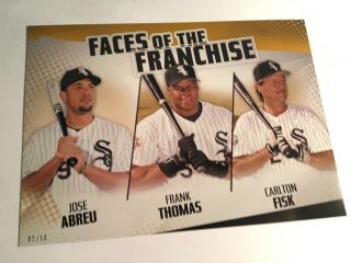 2019 Topps Faces Of Franchise 5x7 Carlton Fisk Frank Thomas White Sox 02/10