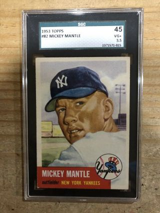 1953 Topps Mickey Mantle 83 Sgc 45 (psa 3.  5) Very Good Plus