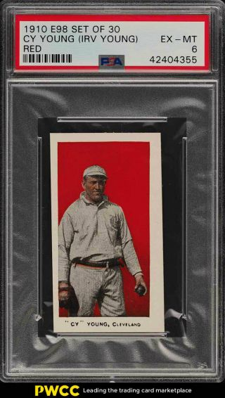 1910 E98 Set Of 30 Red Cy Young Psa 6 Exmt (pwcc)