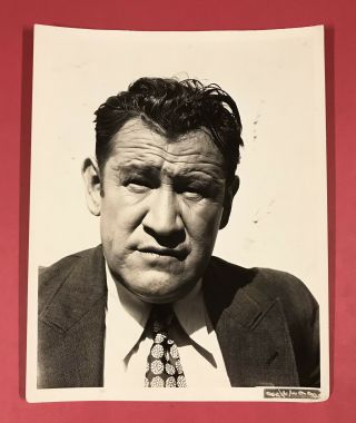 1931 Football Star Actor Jim Thorpe Type 1 Photograph Stunning Close Up