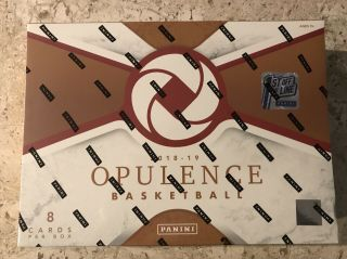 2018 - 2019 Panini Opulence Fotl First Off The Line Hobby Box.  In Hand