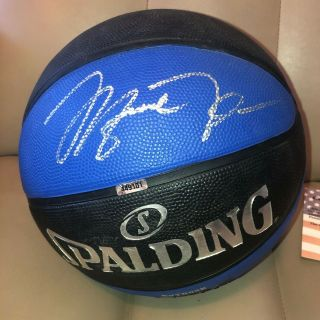Michael Jordan Hand Signed Autographed Basketball Chicago Bulls With
