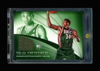 Giannis Antetokounmpo 2013 - 14 Panini Rookie Rc Jersey Patch Never Seen Sp