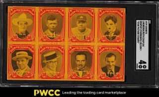 1929 Exhibits Star Picture Stamps W/ Babe Ruth Dempsey Chaplin Sgc 4 Vgex (pwcc)