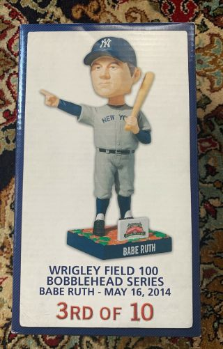 Chicago Cubs Wrigley Field 100 Years Babe Ruth Called Shot Bobblehead