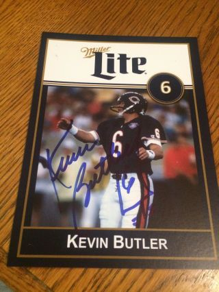 Kevin Butler 1985 Sb Xx Champion Chicago Bear Signed Photo Card