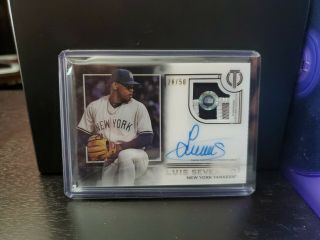 2019 Topps Tribute Game Patch Auto Luis Severino 28/50 Yankees