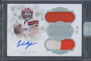 2018 Flawless Baker Mayfield Browns Rpa Rc Rookie Dual Patch Auto 20/20