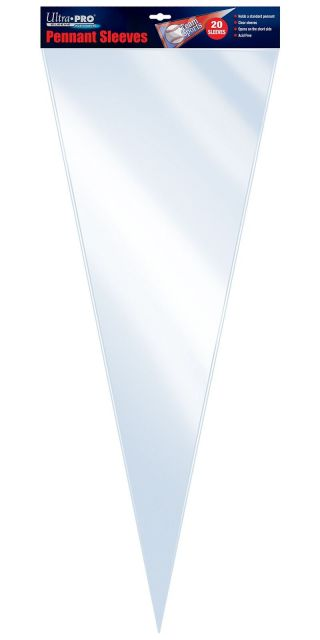 Ultra Pro Protective Sleeves For Pennants 20 Count Pack Clear