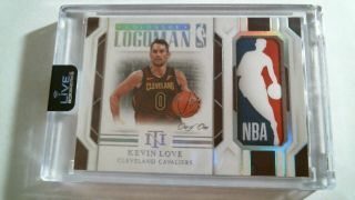 Kevin Love 2018 - 19 National Treasures Game Worn Colossal Logoman One Of One 1/1