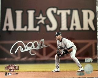 Derek Jeter Signed Autographed 8x10 Photo Steiner And Mlb Hologram Yankees