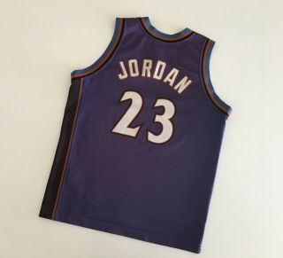 Michael Jordan Wizards Nba 2001/02 Vintage Basketball Shirt Yl Champion Jersey