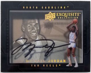 Bulls Michael Jordan Signed 2011 - 12 Ud Exquisite Shadowbox Card Bas A69106