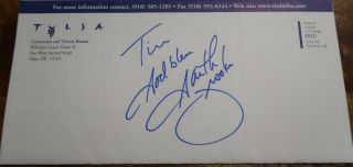 Garth Brooks Signed Autographed Index Cut Signature