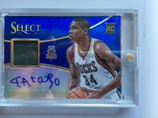 Giannis Antetokounmpo 2013 - 14 Select Rookie Auto Patch Blue Refractor /49 Hot
