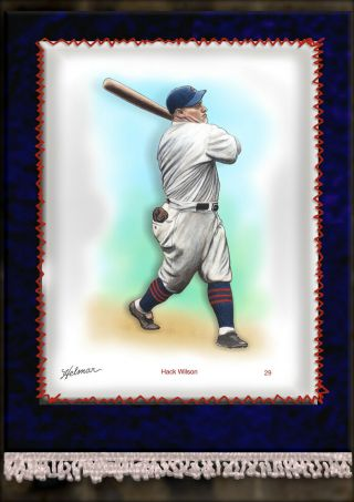 French Silks Large 29 Hack Wilson Chicago Cubs First Time