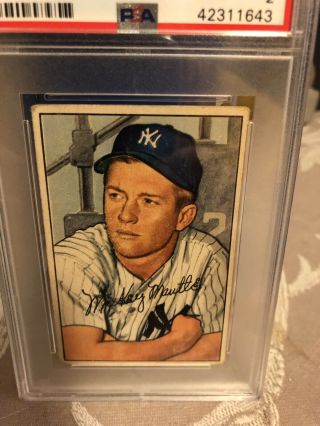 Mickey Mantle 1952 Bowman 101 Psa Good 2