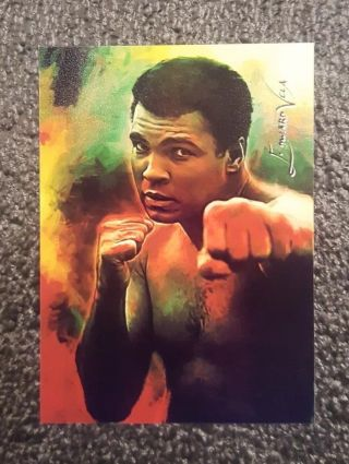 Muhammad Ali 13 Sketch Card Limited 3/9 Edward Vela Signed Very Rare Collectibl