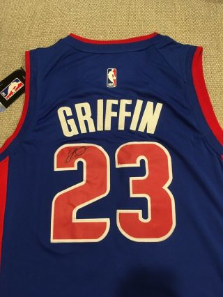 Exact Proof Blake Griffin Signed Autographed Detroit Pistons Jersey Oklahoma