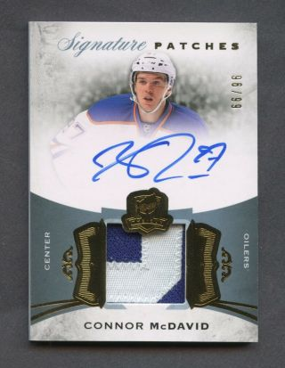 2015 - 16 Ud The Cup Connor Mcdavid Oilers Rpa Rc Patch Auto 96/99