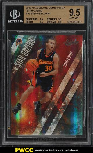 2009 Absolute Memorabilia Star Gazing Stephen Curry Rookie 1/100 Bgs 9.  5 (pwcc)