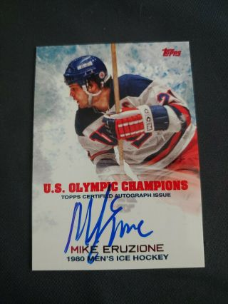 2014 Mike Eruzione Topps Auto 1980,  Mens Hockey Miracle On Ice Autograph Olympics