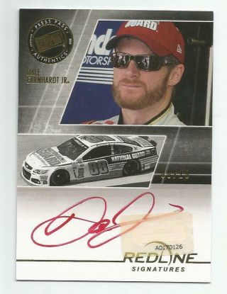 2014 Press Pass Redline Dale Earnhardt Jr.  Red Ink Autograph 08/10