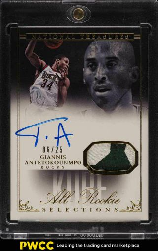 2013 National Treasures Selections Giannis Antetokounmpo Rc Auto Patch /25 (pwcc)