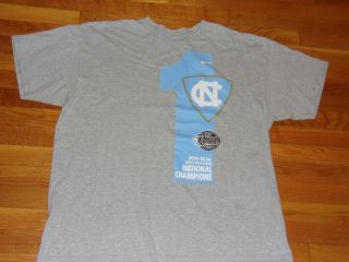 Nike North Carolina Tar Heels Basketball 2009 Champions T - Shirt Mens 2xl Exc.