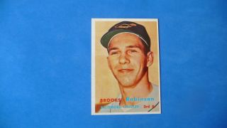 1957 Topps 328 Brooks Robinson Orioles Rc Hof Rookie Nm To Nm,  Wow