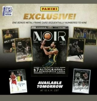 2018 - 19 Panini Noir Basketball Box Fotl Confirmed