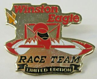 1991 Winston Eagle Race Team Limited Edition Tack Pin Pinback Hydroplane Boat C3