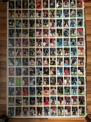 1990 - 91 Opc O - Pee - Chee Complete Set 528 Cards Uncut Sheet Panel