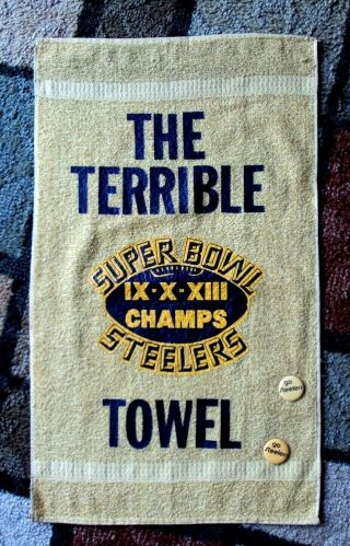 Cannon Pittsburgh Steelers Training Camp Terrible Towel Ix X Xiii Champs