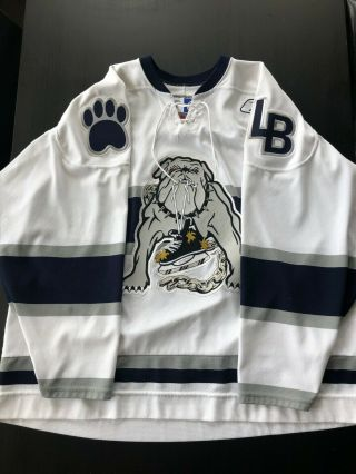 Long Beach Ice Dogs Jersey Size Xl White